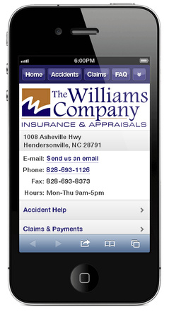 m.thewilliamscompany.net website preview